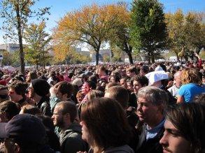 The crowd was insane.