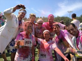 Amesbury, MA (July 2012): The Color Run. It was so good, we ran it twice (once for the run, twice to go get the car.)