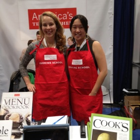 New York, NY (June 2012): Rocking the America's Test Kitchen aprons with Kate at Book Expo America.