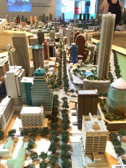 Miniature Orchard Road (Singapore's shopping district)