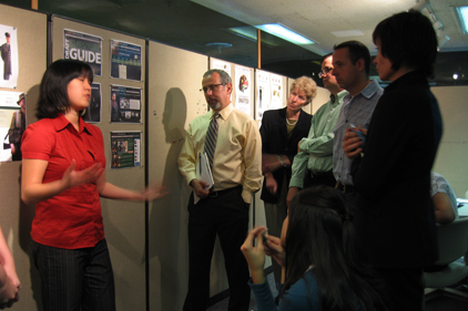 Pitching my ideas to Globe editors in 2007, trying to win an internship :)