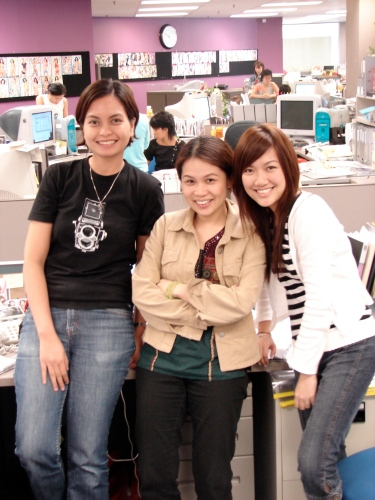 My co-workers at Shape Magazine Singapore in 2006.
