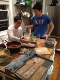 Or for friends to pose awkwardly while making lasagna.