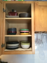 Trying to keep plates and dishes minimal.