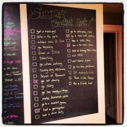My 2014 summer bucket list.