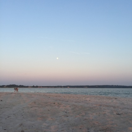 Moonrise to the left