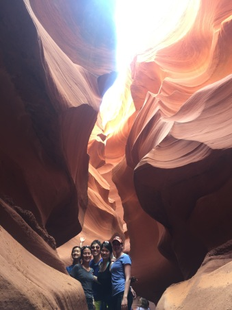 The crew in the canyon.