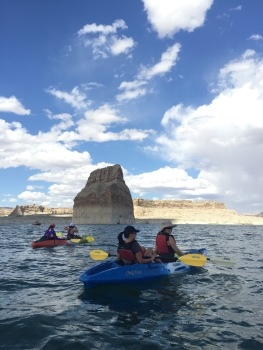 Kayaking in Lake Powell