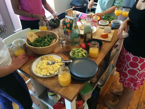 ... one time we invited our friends and neighbors, and it became a full-day brunch :)