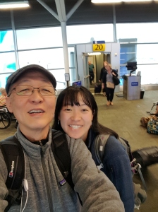 Selfie of us at Indianapolis airport.