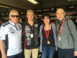 Meeting Spencer Pigot, a rookie this year driving car #16.