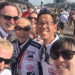 Selfie on the grid before the start of the race.