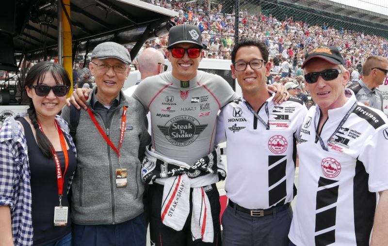 From left: me, Dad, Graham Rahal (Driving #15) Teddy Yip Jr, David Kennedy