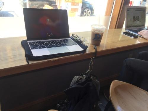 At Darwin's Coffee in Cambridge, MA