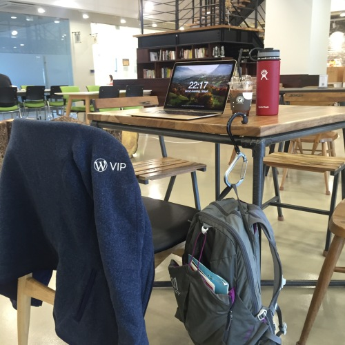 At a co-working space in Jeju, South Korea