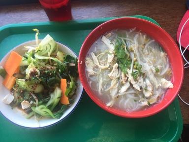 Noodles and veggies at Zoe Ma Ma.