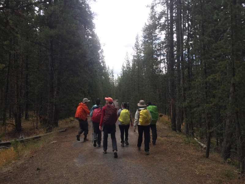 Hiking crew, with bear mace in tow.