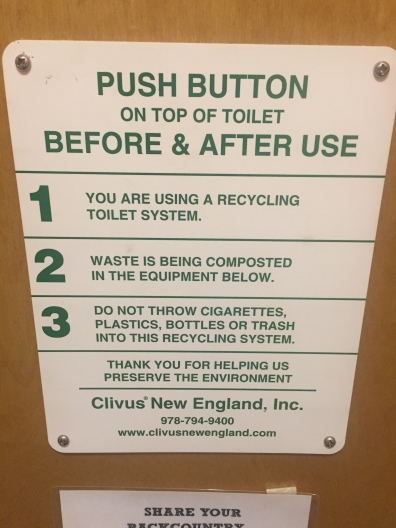 How to use the composting toilet.