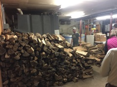 Wood storage in the basement