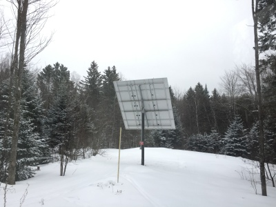 Solar panel at Poplar. At Stratton Brook, it's on top of the roof.
