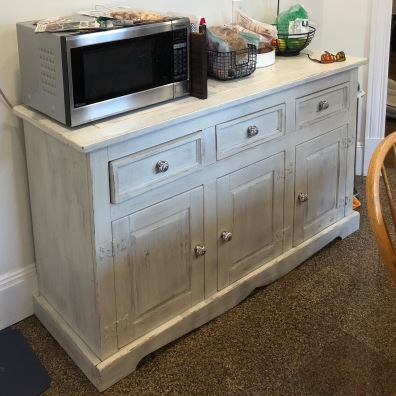 After: Picked up a kitchen sideboard from a furniture recycler in Somerville.