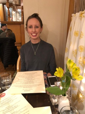 Emily at dinner