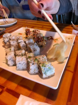 Stopped in Killington to check out snowboards and eat at Sushi Yoshi