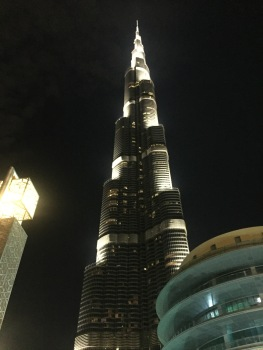 View of the Burj Khalifa from the Apple Store balcony.
