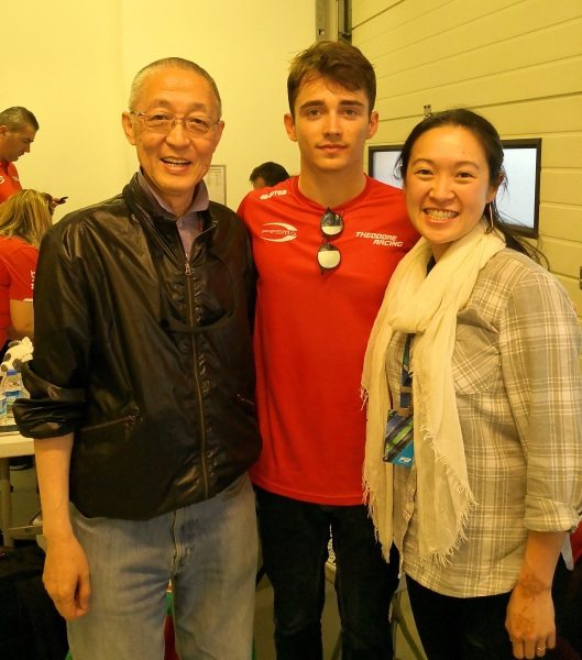 With LeClerc post-race.